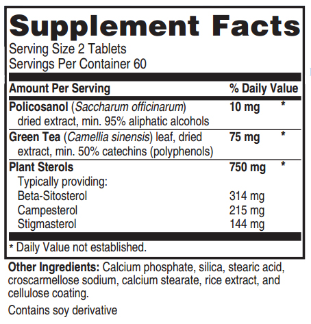 Advanced Cholesterol Formula Ingredients