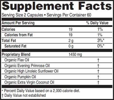 Advanced EFA Formula Ingredients