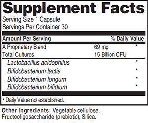 Advanced Probiotic Formula Ingredients